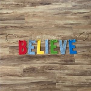 Believe Felted multicolored Banner